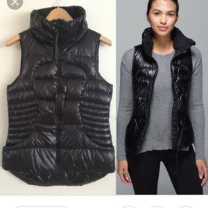Lululemon Fluffin Black Quilted Puffer Down Vest 6